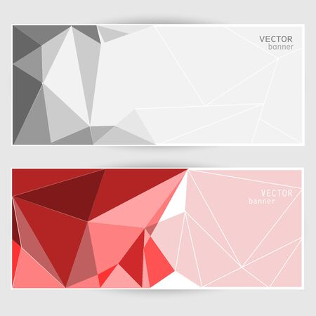 Two banners with polygonal pattern
