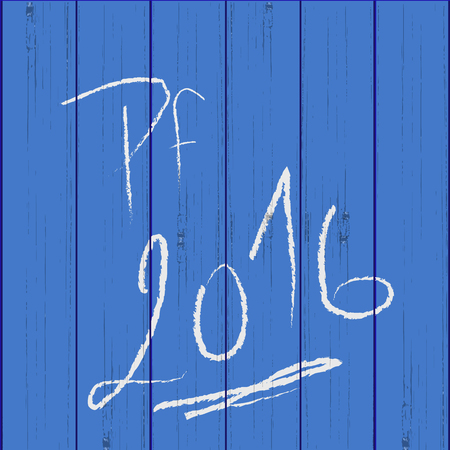 pf: PF 2016 on wooden fence