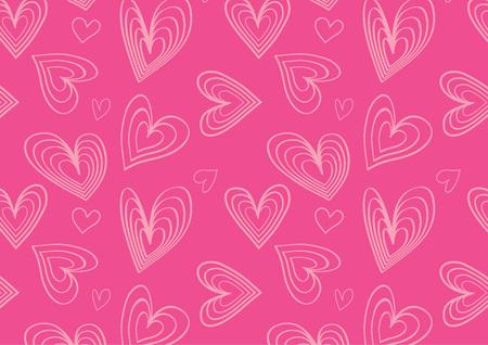 フラット ハート柄ピンク