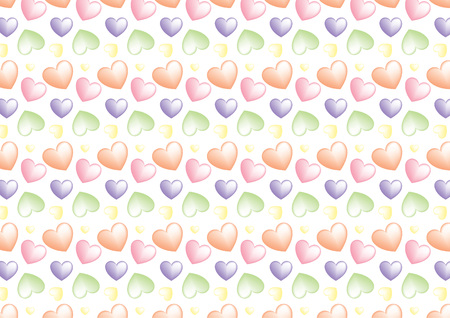 Seamless heart background in marzipan colors