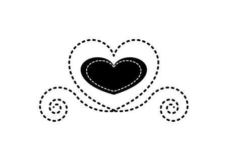 Heart flat icon in black