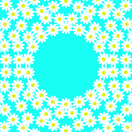signatures: card with daisies on a turquoise background with space for signatures