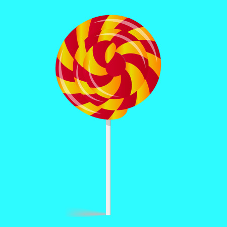 twisted: Twisted candy, sweet, yellow-red