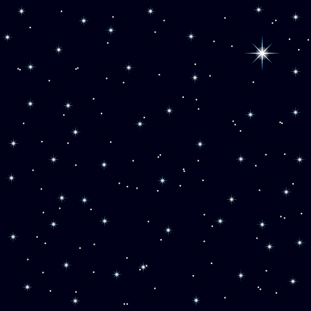 starry night: starry night sky of Christmas night, festive background