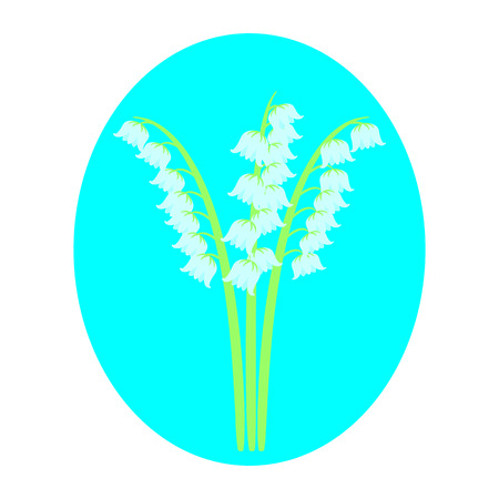 humility: lilies of the valley isolated on white background, greeting card Illustration