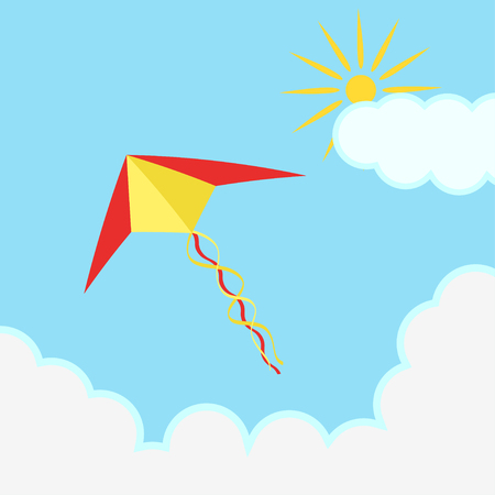 Flying colorful kite