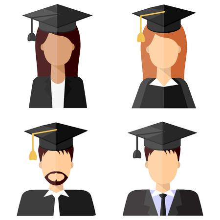 230956069 Ilustración Plana Moderna De La Licenciatura Graduada De Los Jóvenes ...
