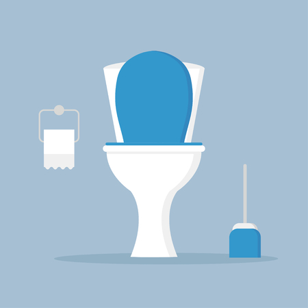toilet bowl, seat 2 Illustration