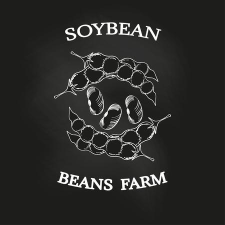 Soybean poster, chalkboard