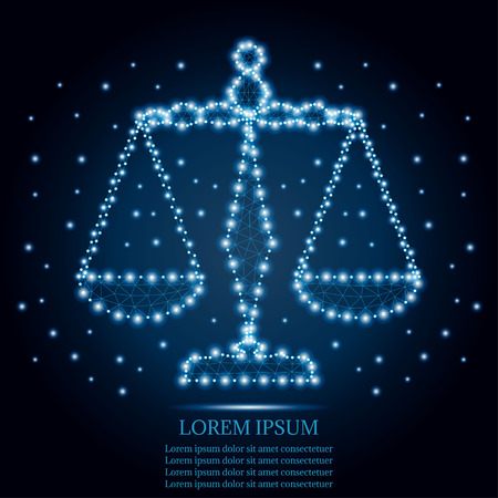 Justice scales vector illustration