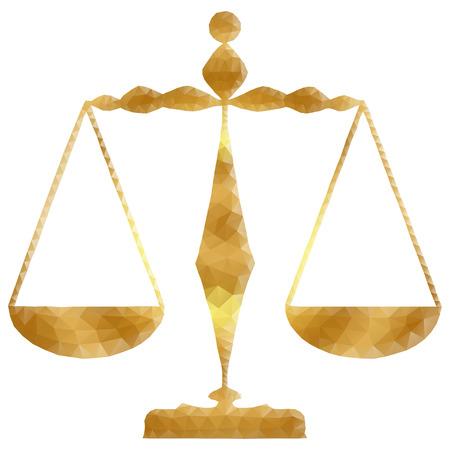 Justice scales illustration Illustration