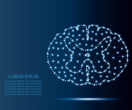 spinal cord polygon blue stars 3
