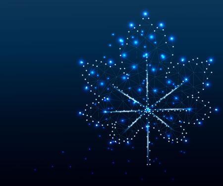 Maple leaf, polygon, blue 2 Stockfoto - 117104414