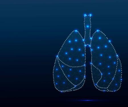 human lungs illustration Illustration
