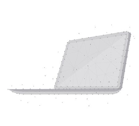 Polygonal laptop illustration