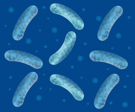 Bacteria probiotics illustration Ilustracja