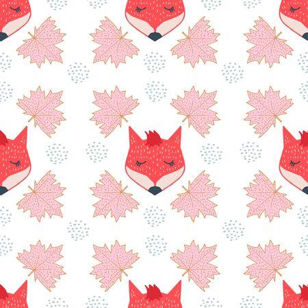 fox face scandinavian seamless