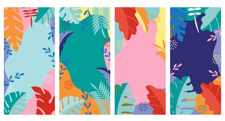 Set abstract background, summer Illustration