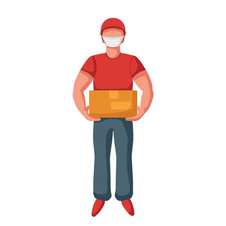Delivery man mask box