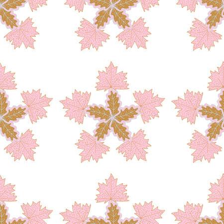 Leaf, branch set, scandinavian, doodle, color, seamless 20 Vectores