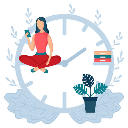 woman sitting clock arrows 3