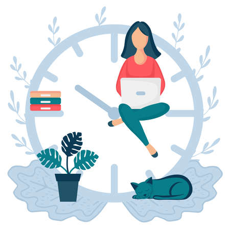 woman sitting clock arrows 2