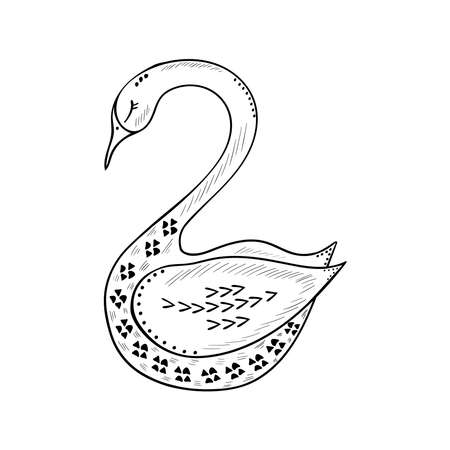 birds, scandinavian, b-w 2