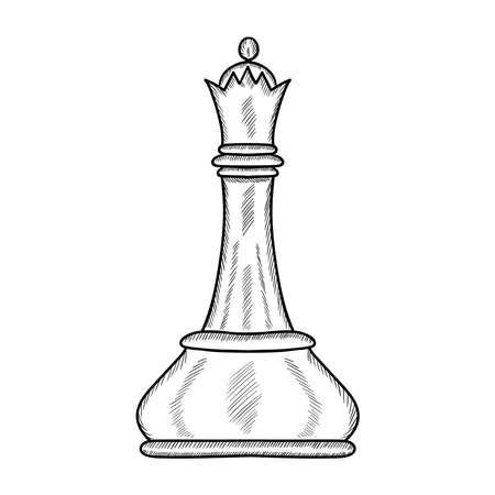 Chess doodle illustration