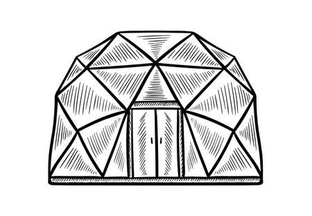 Glamping doodle tent set