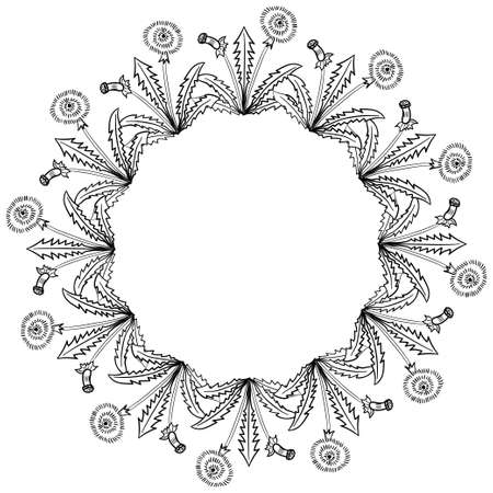 dandelion frame border illustration 일러스트