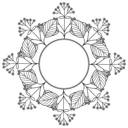 Quina border frame illustration