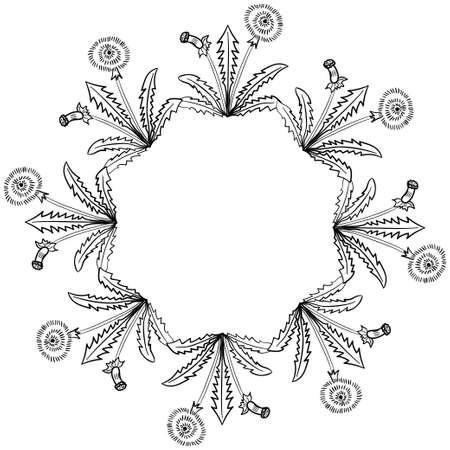 dandelion frame border