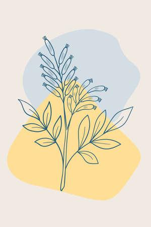 bitter-wood abstract poster design illustration