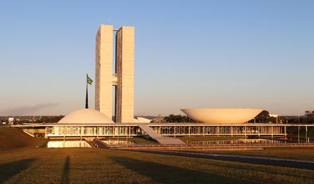 national congress: BRAZIL, BRASILIA, MAY 07, 2016 National Congress at Sunset