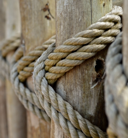 rope on a fence post