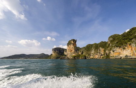 quite: Krabi panoramic view from the sea - Thailand