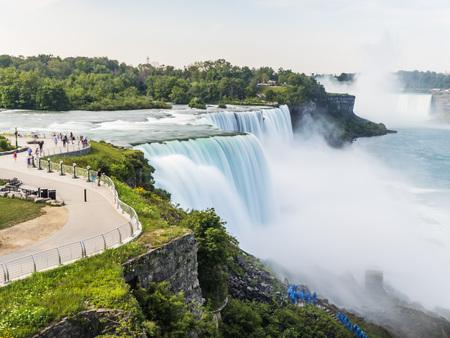 Niagara Falls long exposure, silk water. New York, USA