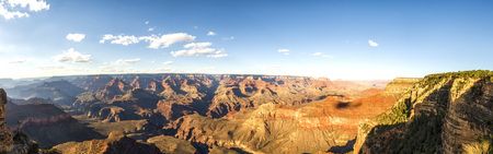 quite: Panorama: Yavapai View Point - Grand Canyon, South Rim, Arizona, AZ, USA