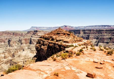 quite: Grand Canyon West Rim Eagle Point view - Arizona, AZ, USA Stock Photo