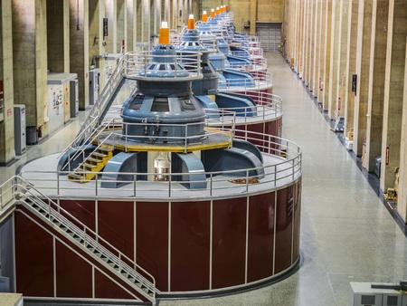 Hoover Dam plant, underground turbines - August 10th, 2017 - Arizona, AZ, USA