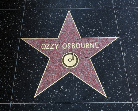 Ozzy Osbournes Star, Hollywood Walk of Fame - August 11th, 2017 - Hollywood Boulevard, Los Angeles, California, CA, USA
