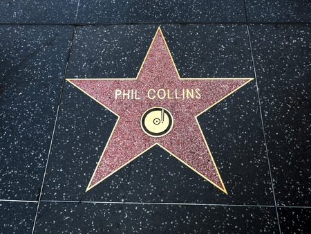 Phil Collinss Star, Hollywood Walk of Fame - August 11th, 2017 - Hollywood Boulevard, Los Angeles, California, CA, USA