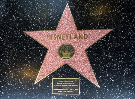 Disneylands Star, Hollywood Walk of Fame - August 11th, 2017 - Hollywood Boulevard, Los Angeles, California, CA, USA Editorial