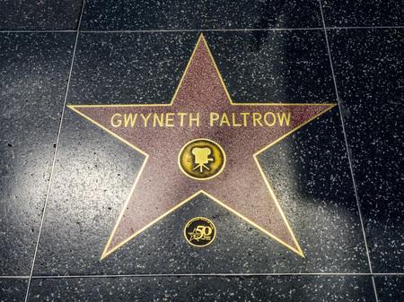 Gwyneth Paltrows Star, Hollywood Walk of Fame - August 11th, 2017 - Hollywood Boulevard, Los Angeles, California, CA, USA