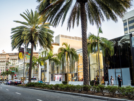 Via Rodeo - Rodeo Drive, palms on the August 12th, 2017 - Los Angeles, LA, California, CA, USA