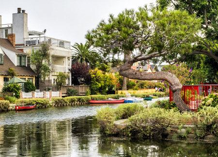 Venice Canals on the 13th August, 2017 - Venice Beach, Los Angeles, California, USA Editorial