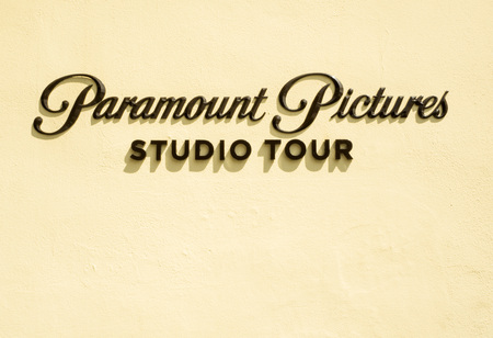 Paramount Pictures sign at Melrose Gate Hollywood on the 14th August, 2017 - Los Angeles, LA, California, CA, USA