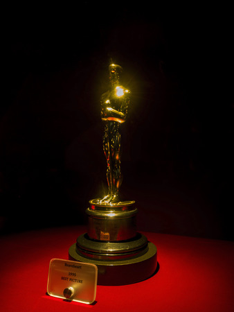 Braveheart Oscar for Best Picture 1995 at Paramount Pictures Hollywood Tour on the 14th August, 2017 - Los Angeles, LA, California, CA, USA