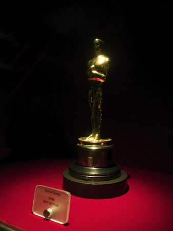 Forrest Gump Oscar for Best Picture 1994 at Paramount Pictures Hollywood Tour on the 14th August, 2017 - Los Angeles, LA, California, CA, USA Editorial