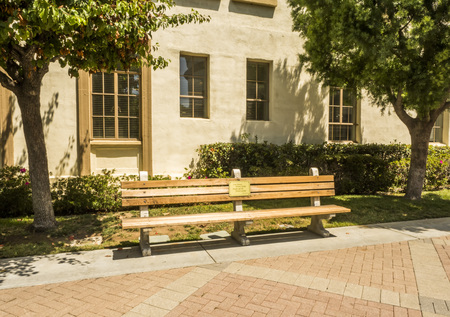 Paramount Studios Pictures, Forest Gump original bench, Hollywood Tour on the 14th August, 2017 - Los Angeles, LA, California, CA, USA